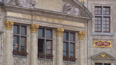 """Baroque house in Brussels (""""Maison des Brasseurs"""") Stock Footage"""
