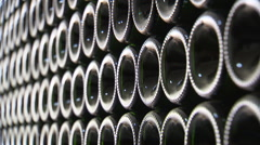 Large stack of bottles Stock Footage