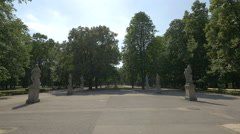 Sunny day in the Saxon Garden in Warsaw Stock Footage