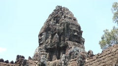 Stock Video Footage of Cambodia temples landmark angkor wat bayon stone construction ancient building