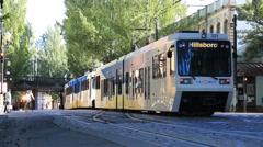 Urban tram Portland, Oregon Arkistovideo