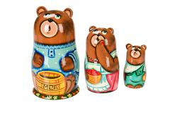 Old Russian Traditional Folk Dolls - stock photo