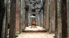 Stock Video Footage of Cambodia temples landmark angkor wat bayon stone construction ancient building