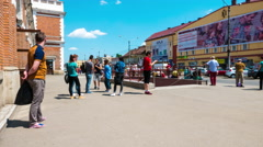 Timelapse of the daily life on the streets of Cluj-Napoca Stock Footage