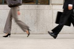 Businesspeople in hurry Stock Photos