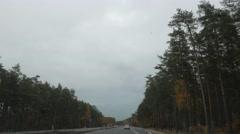 Open Road, Rainy day - stock footage
