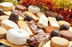 turron, mantecados and polvorones, spanish christmas confections - stock photo
