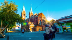 The Cathedral of Maribor Stock Footage