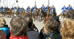 Episode of Guards Mount by the Royal Palace in Stockholm Stock Footage