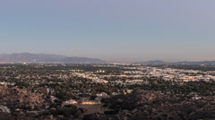 Los Angeles San Fernando Valley Dusk to Night Time Lapse with Zoom - stock footage