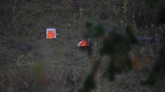 Targets in mountians wildfire hazard Stock Footage