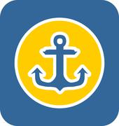 Stock Illustration of Sea Sticker Icon Anchor