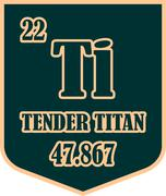 Shield with tender titan text Stock Illustration