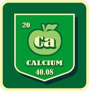 Nutrition facts apple calcium - stock illustration