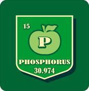 Nutrition facts apple phosphorus - stock illustration