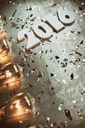 Stock Photo of NYE: Gritty And Grungy New Year Background For 2016