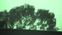 Dramatic Lightning strike on Dark Night in Night Vision - stock footage