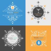Alcoholic beverage icons Stock Illustration