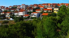 Sibenik is historic town in Croatia Stock Footage