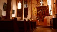The Catholic Parish Church of Hallstatt - stock footage