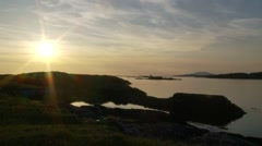Twylighte sky beautifully reflection in ocean Stock Footage