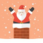 Santa claus in chimney Stock Illustration