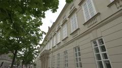 Museum of the University of Warsaw located on Krakowskie Przedmiescie, Warsaw Stock Footage