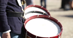 Civil War Reenactment Mountain Fife and Drum Starts Song Stock Footage