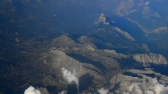 high mountains clouds during flight - stock footage