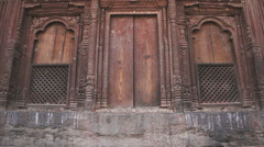 Street scene on the square in the Patan, Nepal Stock Footage