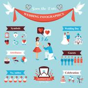 Wedding Infographics Set Stock Illustration