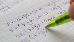 Stock Video Footage of Review Of Mathematics Formulas