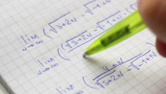 Stock Video Footage of Review Of Mathematics Formulas.