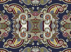 Stock Illustration of ethnic horizontal  authentic decorative paisley pattern  for you