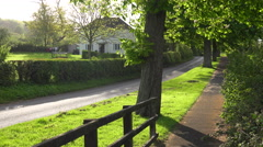 The gardens of a large estate in rural England. - stock footage