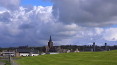 The town of Kirkwall is the capital of the Orkney Islands in Scotland. Stock Footage