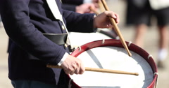 Civil War Reenactment Drums with No Sound Arkistovideo