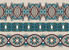 ethnic horizontal  authentic decorative paisley pattern  for you - stock illustration