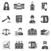 Law Icons Set Stock Illustration