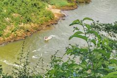 Aerial View of Parana River at Iguazu Park Stock Photos