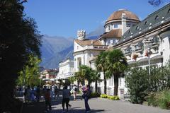 Kurhaus in Meran - stock photo