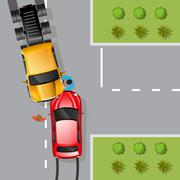 Car Accident Illustration - stock illustration
