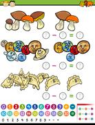 educational math game cartoon - stock illustration