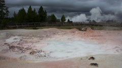 Fountain Paint Pot, Yellowstone National Park, Static time lapse Stock Footage