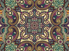 Ethnic horizontal  authentic decorative paisley pattern  for you Stock Illustration