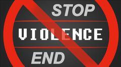 Stock Illustration of Stop / End Violence