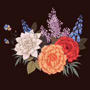 Stock Illustration of Nice vector flowers