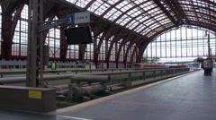 Train Arriving At Antwerpen Train Station Stock Footage