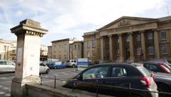 European Hospital: Royal Berkshire Hospital, Reading, UK, EU Stock Footage