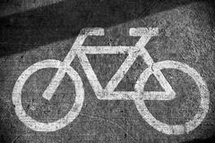 Bicycle lane sign Stock Photos